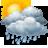 Cielos nubosos con lluvia debil