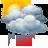 Cielos nubosos con chubascos tormentosos