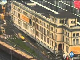 Edificio en movimiento en Zúrich