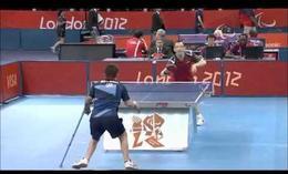 Impresionante punto en tenis de mesa
