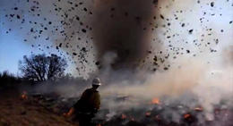 Impresionante tornado de fuego