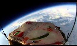 La primera pizza en el espacio
