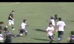 Multitudinaria pelea en un partido de fútbol