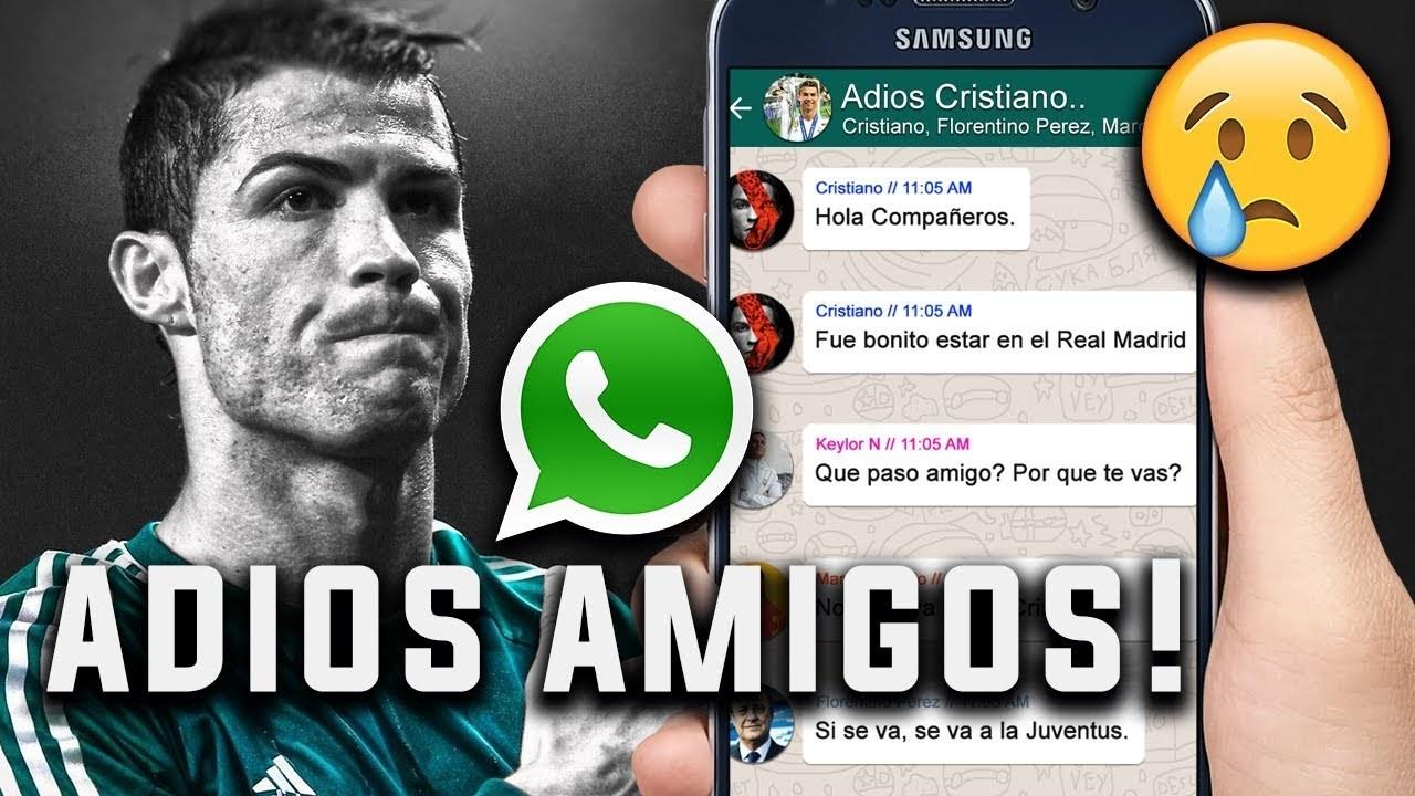 Así Podría Ser La Despedida De Cristiano Del Madrid Por Whatsapp